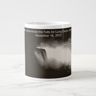 Illuminate the Falls for Lung Cancer Awareness Large Coffee Mug