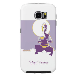 Illuminate woman or Yogini, with full 'moon mind' Samsung Galaxy S6 Cases