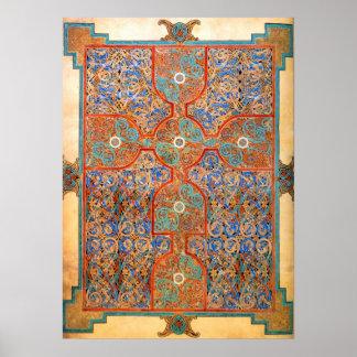 Illuminated Carpet Page Poster