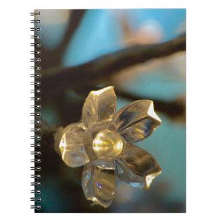 Illuminated Cherry Blossom Spiral Note Books