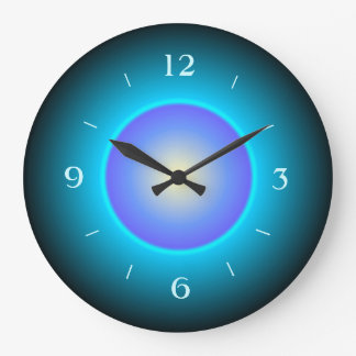 Illuminated Design Green/Aqua/Purple>Wall Clock