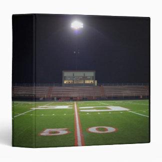 Illuminated Football Field 3 Ring Binder