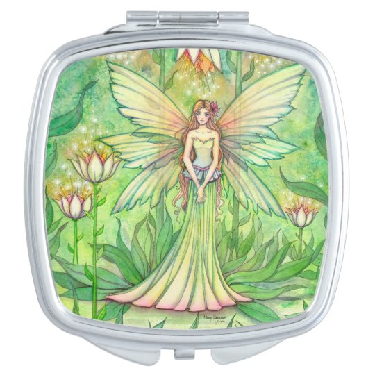 Illuminated Garden Fairy Fantasy Art Makeup Mirror