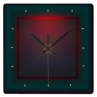 Illuminated Green and Red>Wall clock