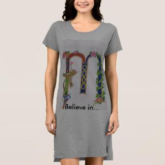 "Illuminated ""M"" T-Shirt Dress"