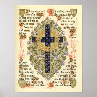 Illuminated Manuscript for Septuagesima and Lent Poster
