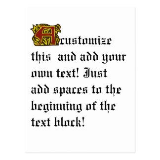 Illuminated Manuscript with A Postcard