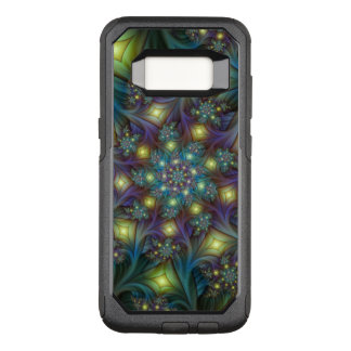 Illuminated modern blue purple Fractal Pattern OtterBox Commuter Samsung Galaxy S8 Case