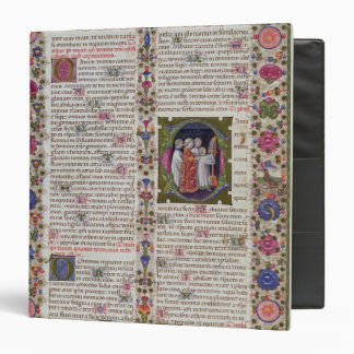 Illuminated page from the Book of Psalms 3 Ring Binders