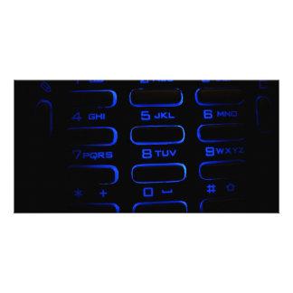 illuminated phone keyboard photo cards