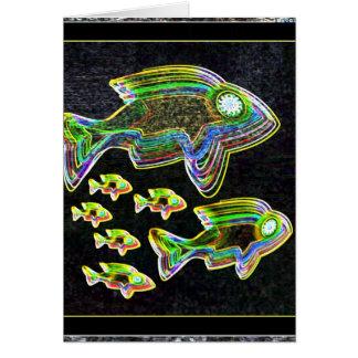 Illuminated Reflection : Fish in Flood Light Card