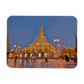 illuminated SHWEDAGON PAGODA Rectangular Photo Magnet