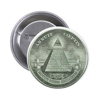 Illuminati - All seeing eye 2 Inch Round Button