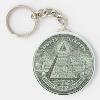 Illuminati - All seeing eye Basic Round Button Keychain
