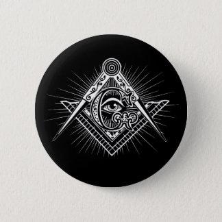 Illuminati All Seeing Eye Freemason Symbol 2 Inch Round Button
