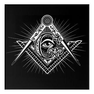 Illuminati All Seeing Eye Freemason Symbol Acrylic Wall Art