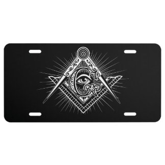 Illuminati All Seeing Eye Freemason Symbol License Plate