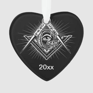 Illuminati All Seeing Eye Freemason Symbol Ornament