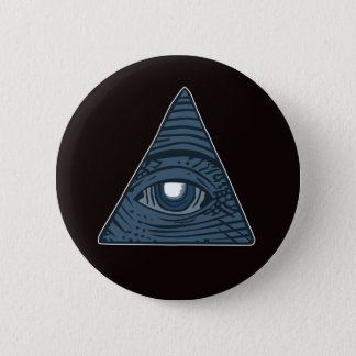 Illuminati All Seeing Eye Pyramid Symbol 2 Inch Round Button