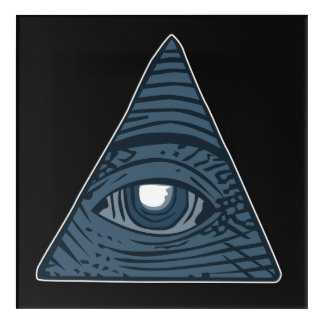 Illuminati All Seeing Eye Pyramid Symbol Acrylic Wall Art