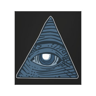 Illuminati All Seeing Eye Pyramid Symbol Canvas Print