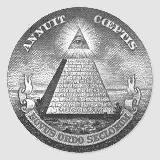 Illuminati All Seeing Eye Round Sticker