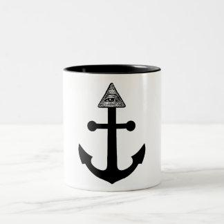 Illuminati Anchor Two-Tone Coffee Mug