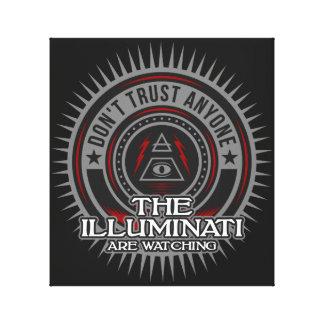 Illuminati Are Watching Don't Trust Anyone Canvas Print
