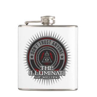 Illuminati Are Watching Don't Trust Anyone Hip Flask