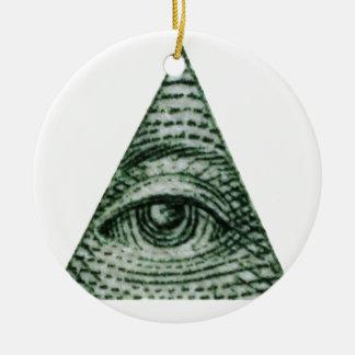illuminati ceramic ornament