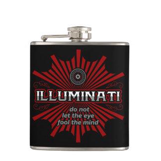 Illuminati Don't Let The Eye Fool The Mind Hip Flask
