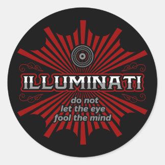 Illuminati Don't Let The Eye Fool The Mind Round Sticker