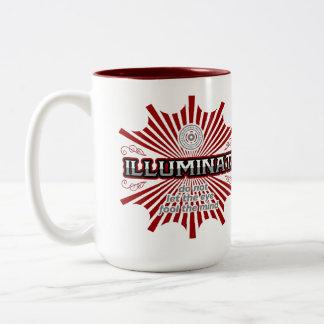 Illuminati Don't Let The Eye Fool The Mind Two-Tone Coffee Mug