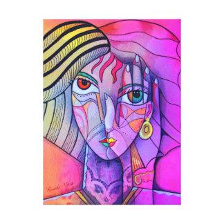 Illuminati girl canvas print