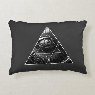 Illuminati Graphic Grey Decorative Pillow