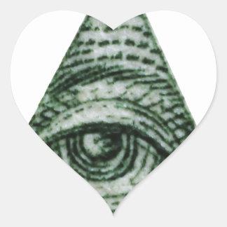 illuminati heart sticker