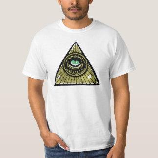 Illuminati Hipster Reptilian Eye Pyramid T-Shirt