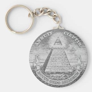 illuminati logo keychain
