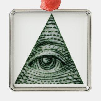 illuminati metal ornament