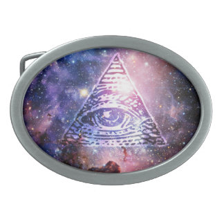 Illuminati nebula belt buckles