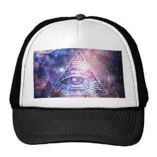 Illuminati nebula trucker hat