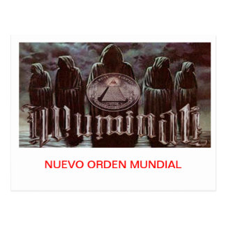 ILLUMINATI NEW WORLD ORDER POSTCARD
