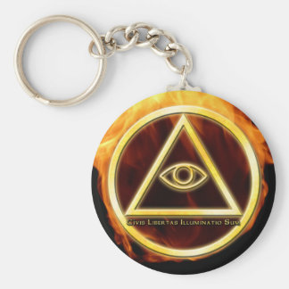 Illuminati on Fire Keychain