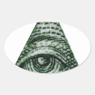 illuminati oval sticker