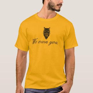 "Illuminati Owl ""We Own You"" T-Shirt All Seeing Eye"