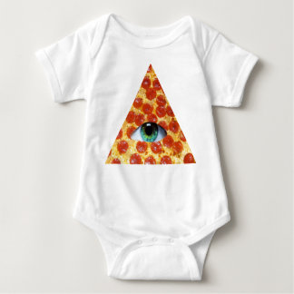 Illuminati Pizza Baby Bodysuit