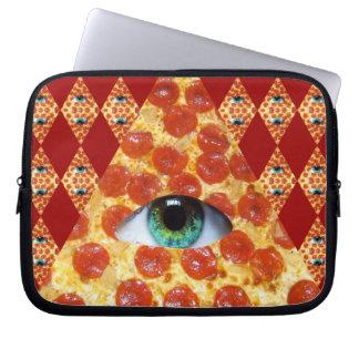 Illuminati Pizza Computer Sleeves