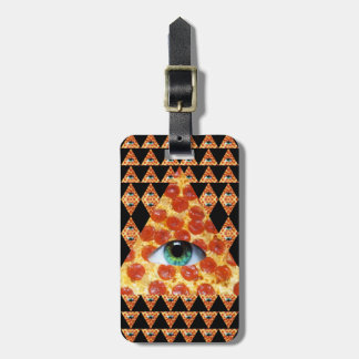 Illuminati Pizza Luggage Tag