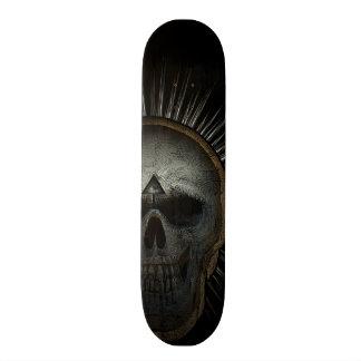 Illuminati skull custom skateboard