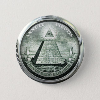 Illuminati US Great Seal 2 Inch Round Button